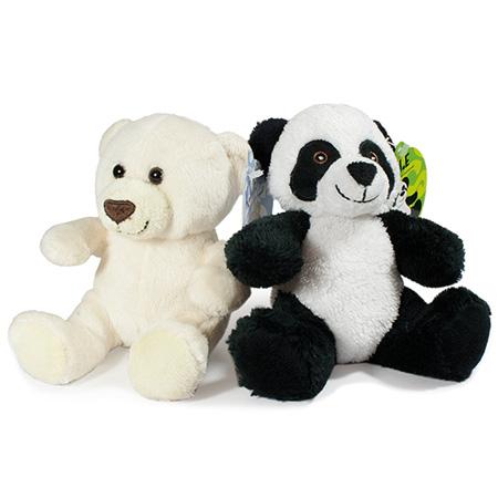 Stofftiere Bär und Panda